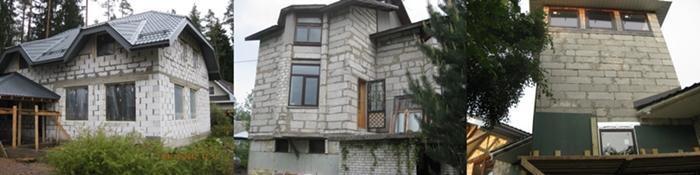 Облицовка гаобетонного дома