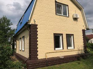 Материал для облицовки деревянного дома